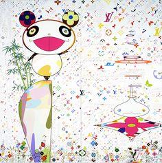 "Takashi Murakami, The World of Sphere, 2003, Acrylic on canvas. 137-13/16 x 137-13/16"", Private collection, New York, Courtesy of Marianne BoeskyGallery, New York, © 2003 Takashi Murakami/Kaikai Kiki Co., Ltd. All Rights Reserved."