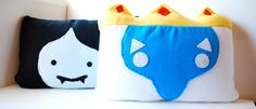 Two Huge ADVENTURE TIME Pillows - Ice King and Marceline, and all of your favorite characters. $50,00, via Etsy.