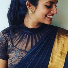 Blouse designs First things first – get your stuff together. Saree Jacket Designs, Saree Blouse Neck Designs, Simple Blouse Designs, Kurta Neck Design, Silk Saree Blouse Designs, Stylish Blouse Design, Bridal Blouse Designs, High Neck Saree Blouse, Saree Blouse Patterns