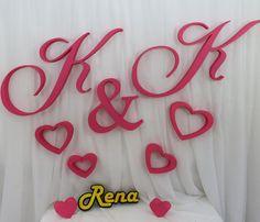 Inicjały – monogramy ślubne K&K