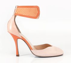 Style Biglissima in touching python and peach suede