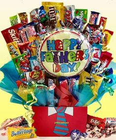 For more than just Father's Day Candy Bouquet