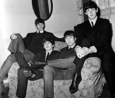 Richard Starkey, George Harrison, John Lennon, and Paul McCartney (relaxing with the lads)