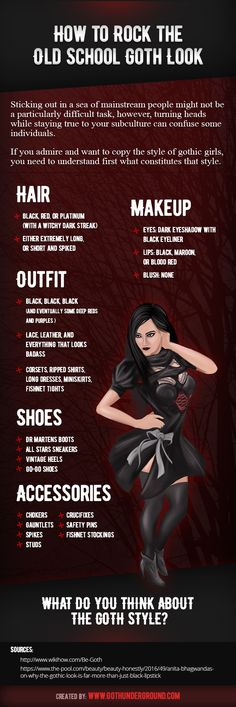 How to Rock the Old School Goth Look