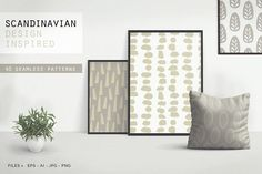 Scandinavian Patterns set of 40 by Youandigraphics on @creativemarket