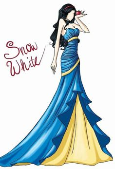 Snow White cartoon illustration via www.Facebook.com/DisneylandForMisfits