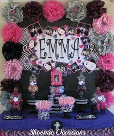 pink zebra party | Kindergarten Vintage Candy Buffet