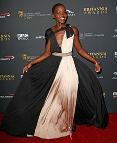 images of outfts worn by lupita nyong'o  | Lupita Nyong'o in Lanvin at the LA BAFTA Awards: stunning or style ...