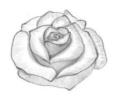 If you are someone who always loved to watch skilled people drawing but never dared to draw a rose yourself this tutorial is for you. Rose Drawing Simple, Simple Rose, Easy Rose, Easy Drawing Steps, Step By Step Drawing, Easy Drawings For Kids, Cool Drawings, Cool Pictures To Draw, Foto Twitter