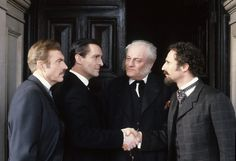 """From """"The Greek Interpreter"""" with Charles Grey (third from left) as Sherlock's brother Mycroft"""