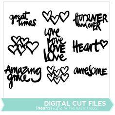 Love Words Cut File by iHeartstudio