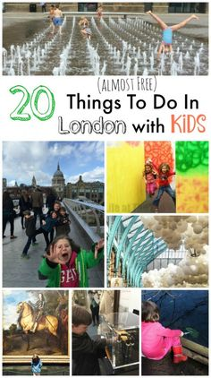 "20 (Almost) Free Things to Do with Kids in London (tried and tested) - we ADORE London and think it is a myth that London ""has to be"" expensive. Here are some of our FAVOURITE London with Kids activities. Just in time for the School Holidays! Enjoy... and please do share your favourite days out."