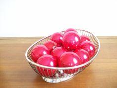 Silver Plated Mid Century Basket, Bread Basket, Fruit Basket