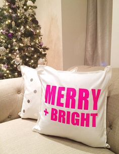 Hot pink MERRY BRIGHT by FancyItPretty on Etsy