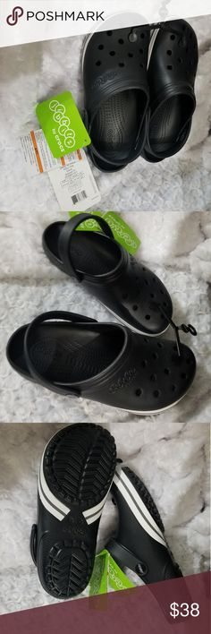 0659fc5ebab7 Crocs Sandals NWOT Jibbitz by Crocs.Black and white sandals Size Men 8 Woman  Bundle and save! Free Gift with two or more items !