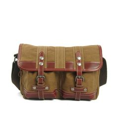 Canvas Messenger Bag    Coffee Molle Bag, Satchel Bag, European Style,  Canvas a5c37399a9