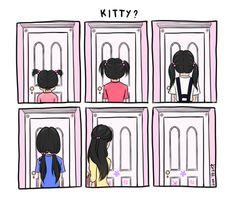 kitty drawing Illustration art disney Pixar monsters inc comic comics doodle Boo mike wazowski james p sullivan