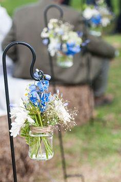 Hay bale seats and sheperd hooks