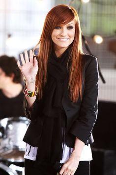 Ashley simpson red hair