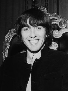 George Harrison<3<3<3 (you make me smile! Georgie has a beautiful smile! :D)