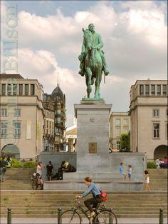 Albert standbeeld: Kunstberg, Brussel.
