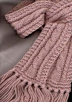 This scarf is easy to make and it is a great project for learning how to do cables. You can make an afghan by using this pattern as a repeat.