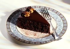 Chocolate, Walnut, and Prune Fudge Torte