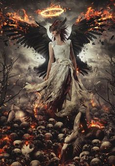 Checkout the list of latest Amazing Photo Manipulation. In this article we have posted Photo Manipulation from different users. Dark Fantasy Art, Dark Gothic Art, Fantasy Artwork, Dark Art, Gothic Angel, Ange Demon, Angel And Devil, Heaven And Hell, Goth Art