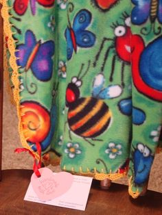 Gone Buggy Fleece Blankie Hand-Crocheted by PipsqueakPetites on Etsy, $30.00