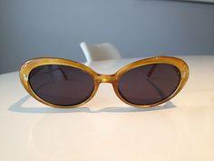 Bill Blass semi cat eye yellow sunglasses  by babysewsweet on Etsy, $25.00