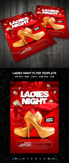 Ladies Night Flyer Template PSD #design Download: http://graphicriver.net/item/ladies-night-flyer/14491795?ref=ksioks
