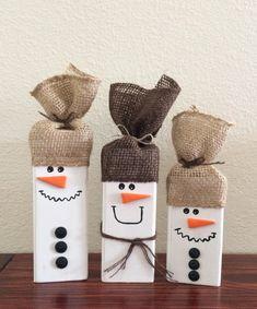 Christmas Wood Crafts, Christmas Snowman, Rustic Christmas, Fall Crafts, Holiday Crafts, Christmas Diy, Christmas Ornaments, Primitive Christmas, Christmas Christmas