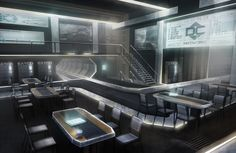 ArtStation - Divergence Online Mess Facility, James Finlayson