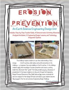 math in the real world NGSS Earth Science-Erosion Prevention Challenge: TONS of Supplements Included - - Earth System Science, Earth And Space Science, Cooperative Learning Activities, Stem Activities, Science Classroom, Science Student, Classroom Resources, Classroom Ideas, Weathering And Erosion