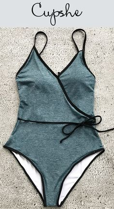 New Arrival! You derserve this cutest swimsuit at poolside party! This piece features unique tie at waist and lace-up design at back. To be the shinest eye-catcher! Free shipping & Shop now!