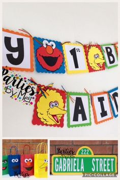 Sesame Street Birthday Decorations- Seasame Street Banner- Sesame Street Characters-Sesame street Birthday-Sesame Street party decorations by PartiesbyMel on Etsy https://www.etsy.com/listing/497203904/sesame-street-birthday-decorations