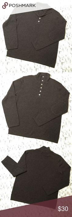 Banana Republic Mens Gray Henley Pullover Sweater Gently used with no flaws. Please see photos for exact details. Banana Republic Sweaters Turtleneck