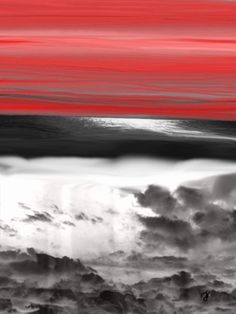 The Beauty Above And Below Art Print art, ocean, sea, seascape, abstract, home, design, office, decor,