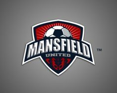 Mansfield United Logo Design | More logos http://blog.logoswish.com/category/logo-inspiration-gallery/ #logo #design #inspiration