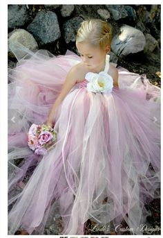 Wedding Bridal Flower Girl Rose Pink & Champagne Tulle Tutu Dress by SweetheartTutus on Etsy, Bridesmaid Flowers, Bridesmaid Dresses, Wedding Dresses, Bridesmaids, Little Girl Dresses, Flower Girl Dresses, Flower Girls, Flower Girl Tutu, Robes Tutu