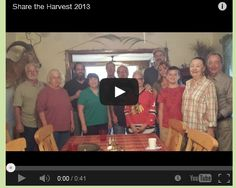"""Annual """"Share the Harvest"""" Get Together"""