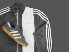Size?-exclusive Adidas Hamburg trainers and track top in grey