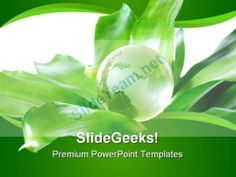 Green Globe Environment PowerPoint Template 0810 #PowerPoint #Templates #Themes #Background