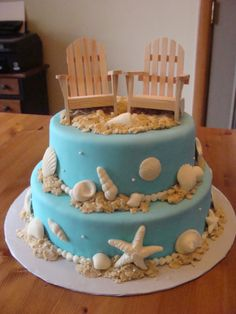 wedding shower cakes beach theme | Email This BlogThis! Share to Twitter Share to Facebook