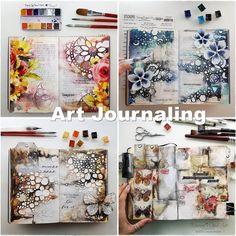 Art Journal Inspiration, Creative Inspiration, Journal Ideas, Art Journal Pages, Art Journals, Junk Journal, Bullet Journal, Sketchbook Layout, Altered Book Art