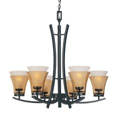 Designers Fountain 83186ORB Majorca 6 Light Chandelier ** Detailed information can be found by clicking on the VISIT button