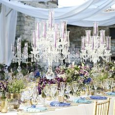 hurricane crystal candelabra wedding centerpieces 9 arms crystal candle holder for event for wedding table