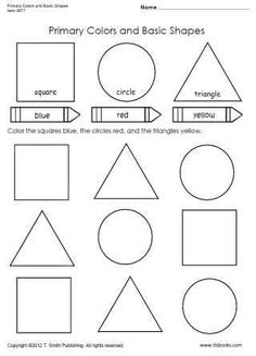 Worksheets Primary Colors Worksheet cards colour and worksheets on pinterest snapshot image of primary colors basic shapes worksheet