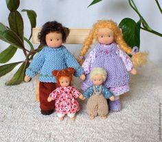 Купить Игровые куколки 6.5 см - вальдорфская кукла, вальдорфская игрушка, игровая кукла