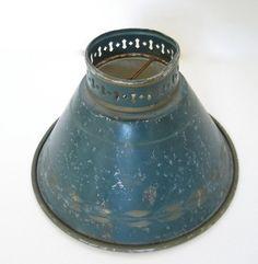 1960's Vintage Green Metal Lamp Shade. $9.00, via Etsy.